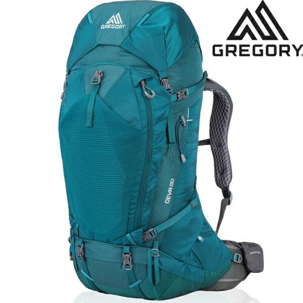 Gregory後背包登山背包背包客背包健行Deva60女款專業登山包916226399安地卡綠