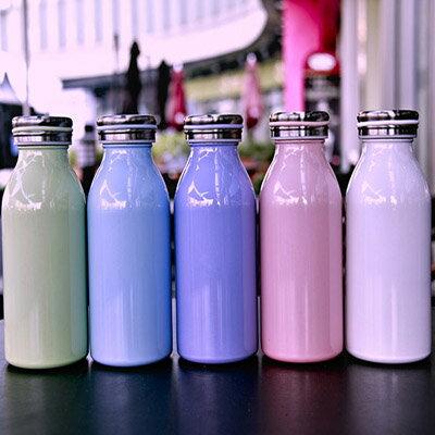 【 樂客生活 】不鏽鋼真空杯男女士經典創意保溫杯純色馬卡龍牛奶水瓶兒童杯子創意杯生日禮物贈品