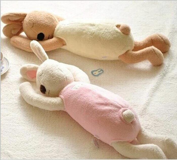 糖衣子輕鬆購【DS172】 le sucre法國兔砂糖兔趴睡型抱枕午睡枕玩偶毛絨玩具