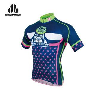 SOOMOM 男瑪爾斯短車衣(短袖全開式拉鍊 單車 自行車 速盟 【03020179】≡排汗專家≡