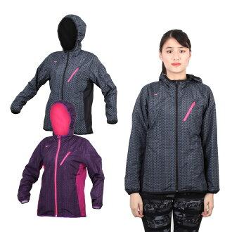 MIZUNO 特定-女半長風衣外套 (免運 防風 刷毛 保暖 美津濃【03391010】≡排汗專家≡
