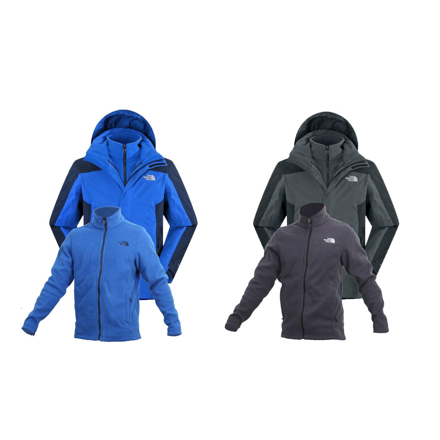 THE NORTH FACE 男 HV刷毛兩件式外套(免運 登山 保暖 防風 【03391029】≡排汗專家≡