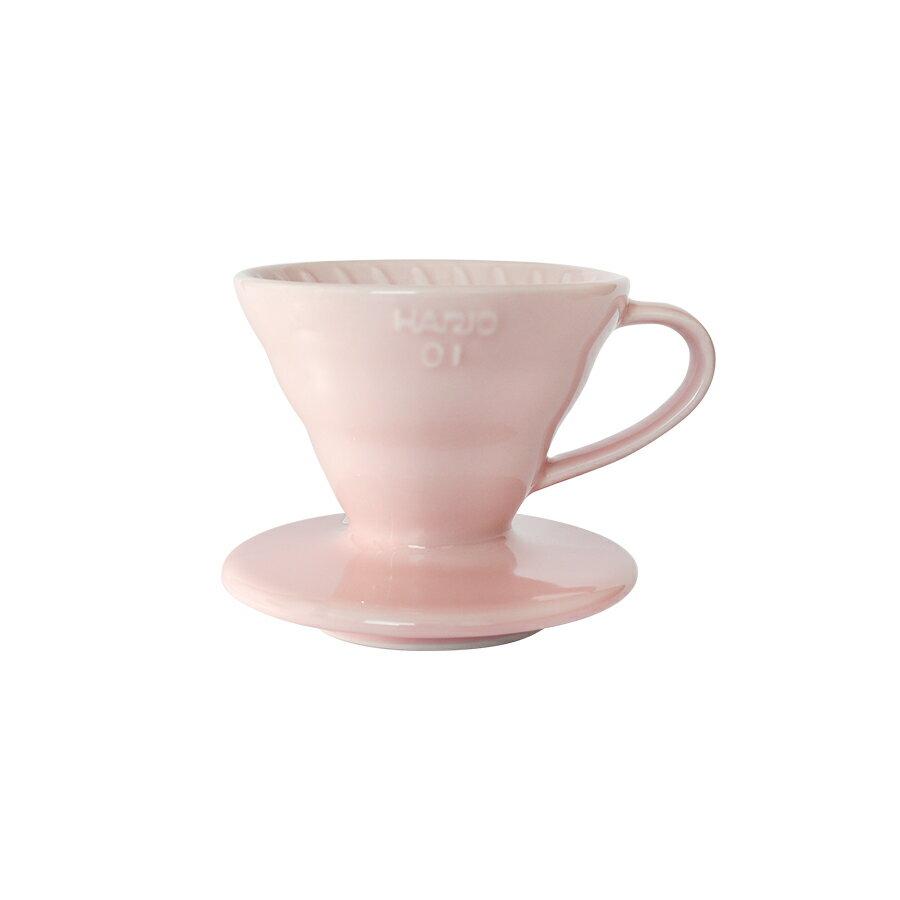 金時代書香咖啡   HARIO V60櫻花粉01彩虹磁石濾杯 1-2杯 VDC-01-PPR-TW