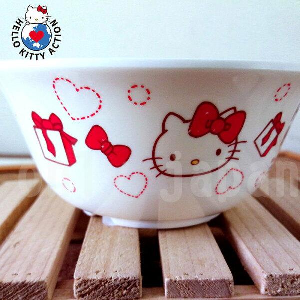 【真愛日本】18051800003西式餐碗-KT紅蝴蝶結三麗鷗kitty凱蒂貓餐具餐碗美耐皿碗