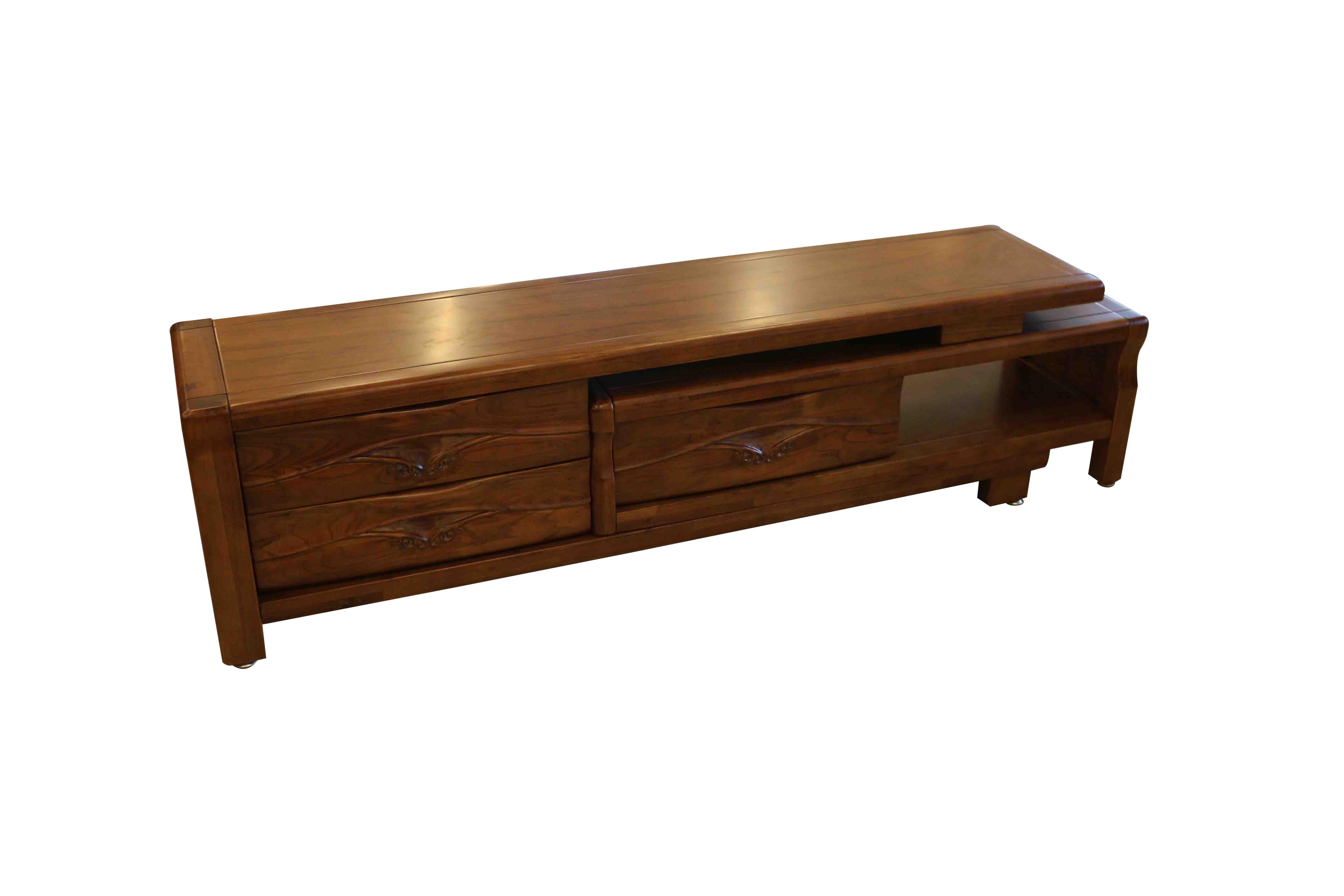 ~尚品傢俱~226~09 全實木柚木色伸縮電視櫃 TV櫃 收納櫃 長櫃 矮櫃 客廳櫃 儲物