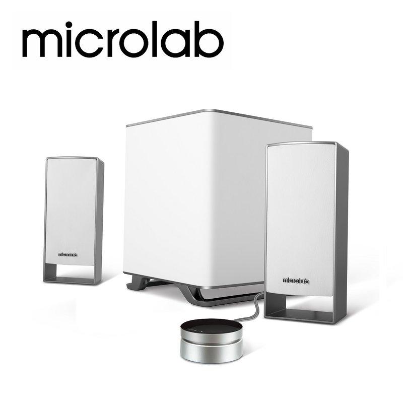 <br/><br/>  microlab M600 白色 2.1 聲道 多媒體喇叭 音箱 多功能線控裝置設計 純粹優雅 撼聲震天 不可錯過的美型勁機<br/><br/>