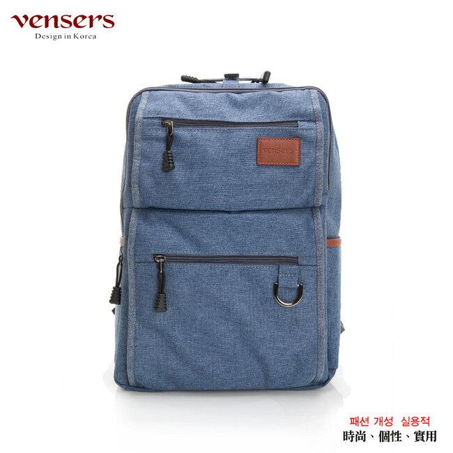 【vensers】簡約丹寧牛仔後背包(R00066103牛仔藍) 0