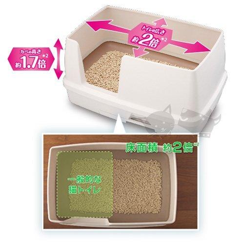 《日本Unicharm嬌聯》寬廣大雙層貓砂盆-抗菌除臭貓便盆 /  新款全配 4