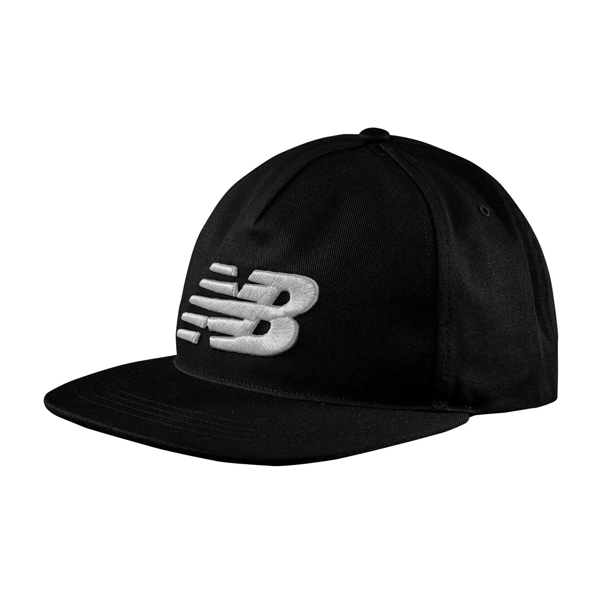 NEW BALANCE 棒球帽 舒適 LOGO 繡花 黑【運動世界】500196-001