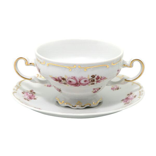德國Weimar凱瑟琳娜玫瑰系列-300ML湯碗+湯盤組