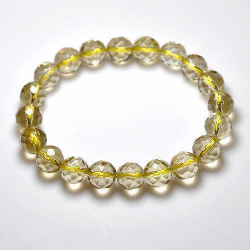 黃水晶手鏈64刻面水晶手鏈 男女款手鏈水晶