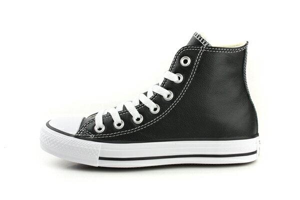 CONVERSE Chuck Taylor All Star Leather 皮革 舒適 基本款 戶外休閒鞋 黑 男女款 132170C no059 4