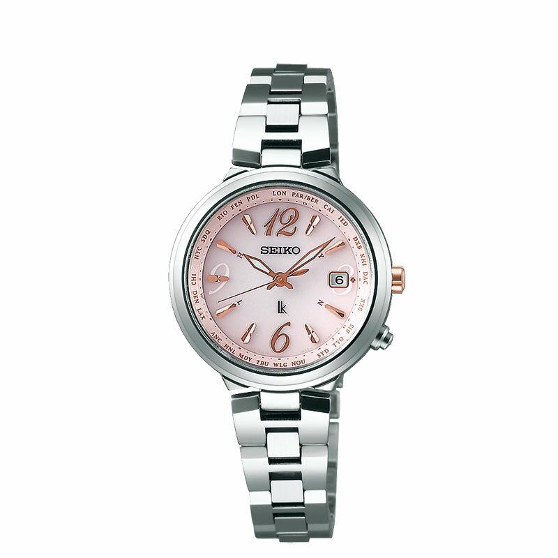 Seiko Vivace 1B25-0AL0P(SSVV017J)美好時刻太陽能電波腕錶/粉紅面28mm