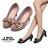 格子舖*【KD8006】MIT台灣製 OL上班族必備 輕熟時尚金屬蝴蝶結 舒適6CM粗中跟高跟鞋 圓頭包鞋 2色 0
