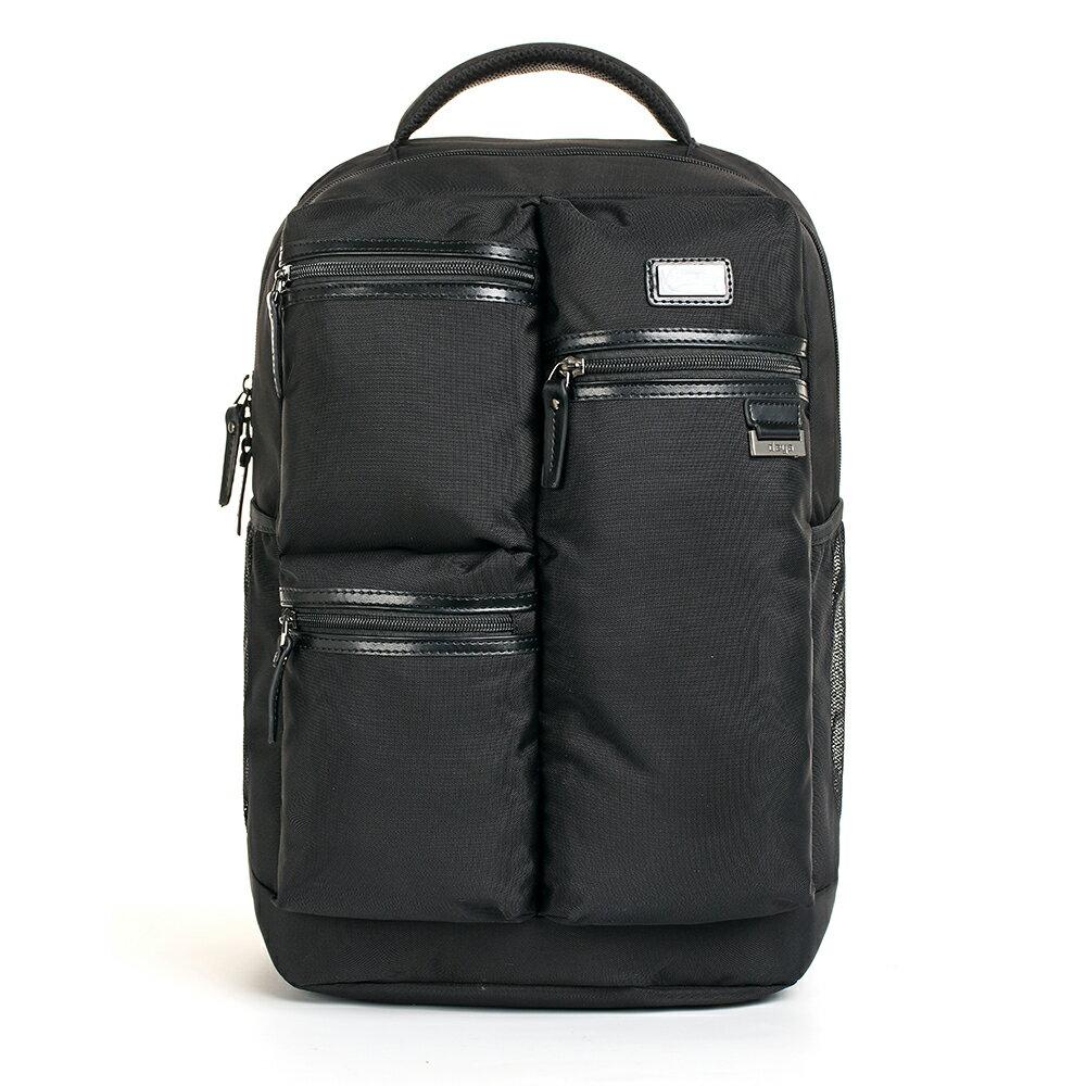 後背包 / deya【曼哈頓系列】多隔層雙肩後背包 可放14.1吋筆電 超大空間 潮流與實用兼具