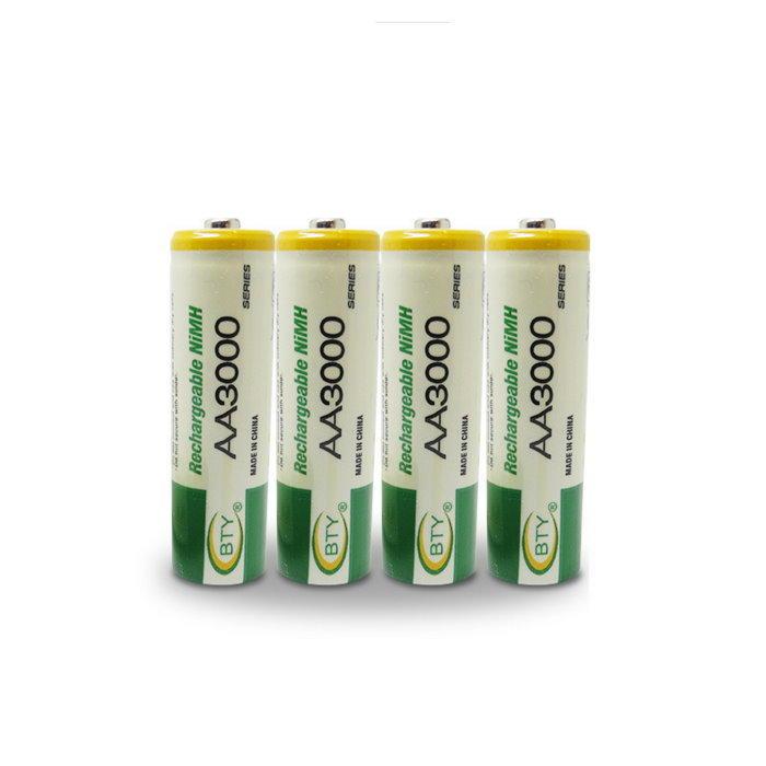 BTY鎳氫電池3號(1入)電池AA3000 玩具鍵盤滑鼠 充電電池【DQ209】◎123便利屋◎