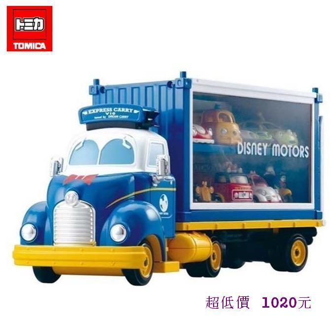 *美馨兒* 【日本TOMICA迪士尼】DS84419 唐老鴨夢幻展示貨車 1020元