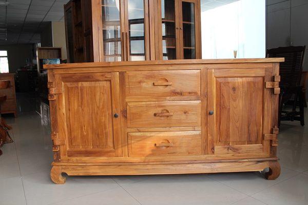 ~石川家居~UG~15 柚木虎腳古式餐櫃 收納櫃 碗碟櫃 置物櫃