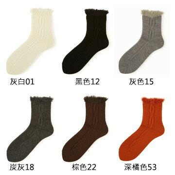 【靴下屋Tabio】毛毛結繩圖案短襪  /  日本職人手做 5