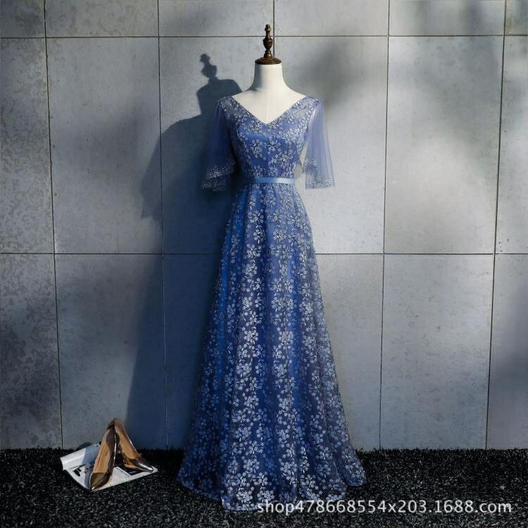 婚紗禮服 婚紗禮服2020新款宴會結婚敬酒晚禮服新娘紅色禮服長款女顯瘦遮肩