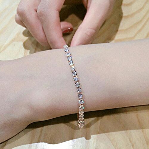 手鍊 - 時尚奢華閃耀水鑽K金手鍊【21586】Blue Paris【防過敏】 3