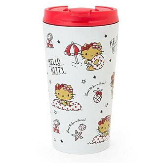 X射線【C366493】Hello Kitty 不鏽鋼隨手杯(夏季)380ml,隨手瓶/保溫杯/直飲式水壺/保冷保溫/環保