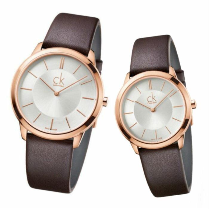 CK 卡文克萊 MINIMAL(K3M216G6+K3M226G6)玫瑰金簡約時尚腕錶 / 白面40+35mm - 限時優惠好康折扣