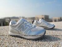 New Balance 美國慢跑鞋/跑步鞋推薦Shoestw【KS574SVP】NEW BALANCE 574 童鞋 運動鞋 中童 銀色 皮革