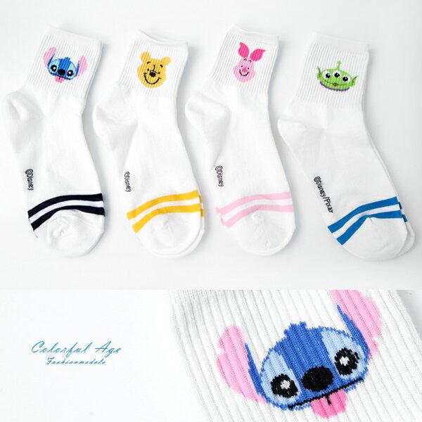 襪子 條紋迪士尼韓製長襪 柒彩年代【NRS25】