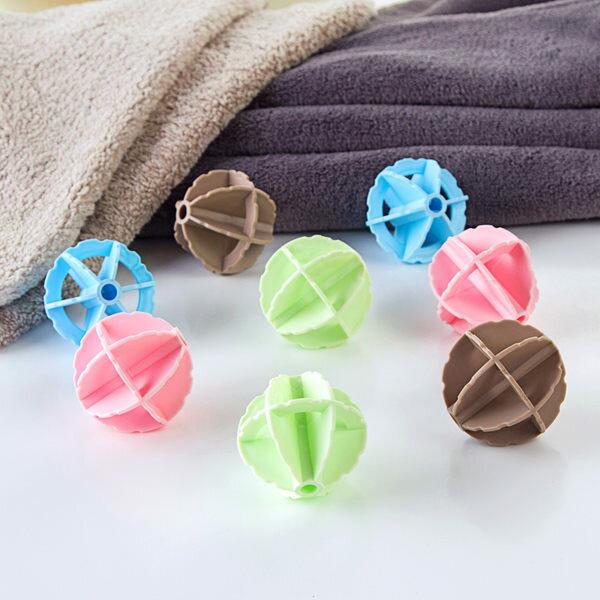 PS Mall 防纏繞打結去汙洗衣球2只裝 衣服清潔球洗衣機衣物魔力球【J380】