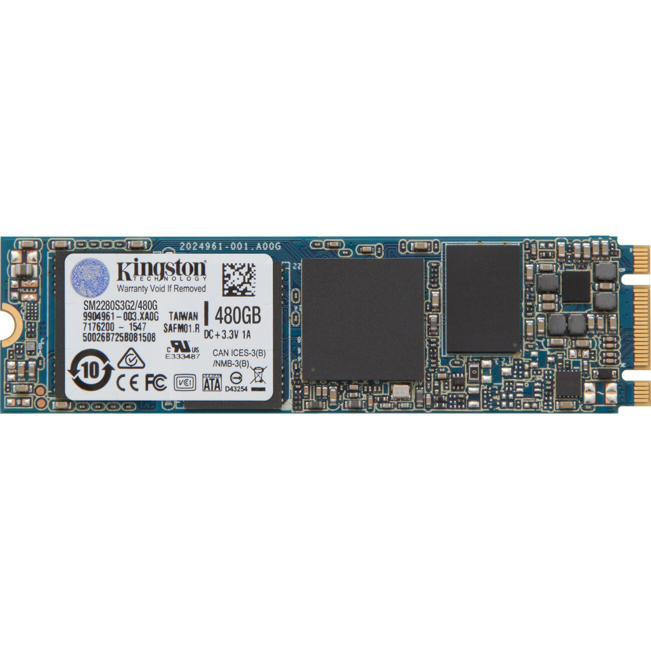Kingston SSD M.2 2280 480GB SSDNow SATA III G2 Internal Solid State Drive 550MB/s Maximum Read Transfer Rate 520MB/s Maximum Write Transfer Rate SM2280S3G2/480G 0