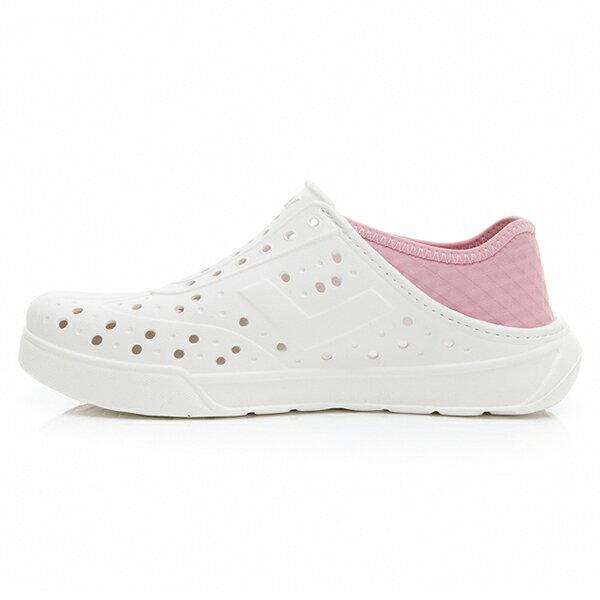 《2019新款》Shoestw【92U1SA02PK】PONY Enjoy 洞洞鞋 水鞋 海灘鞋 可踩跟 懶人拖 菱格紋 白粉紅 男女尺寸都有 2