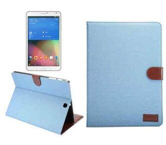 三星 Galaxy Tab S2 9.7吋 平板保護套 牛仔布紋支架插卡皮套 T815 T810 側翻平板保護殼 站立磁扣皮夾