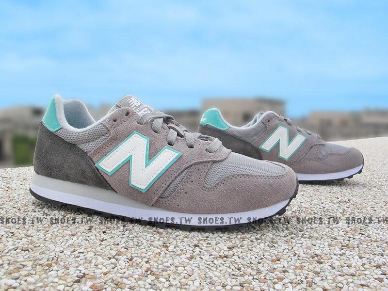 Shoestw【WL373GG】NEW BALANCE 復古慢跑鞋 麂皮 灰色 桃紅滾邊 女生