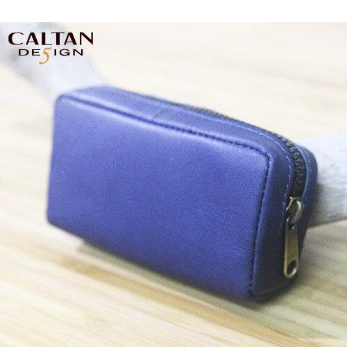 牛皮/零錢包- CALTAN-小巧立體鑰匙零錢包-2101ht-blue