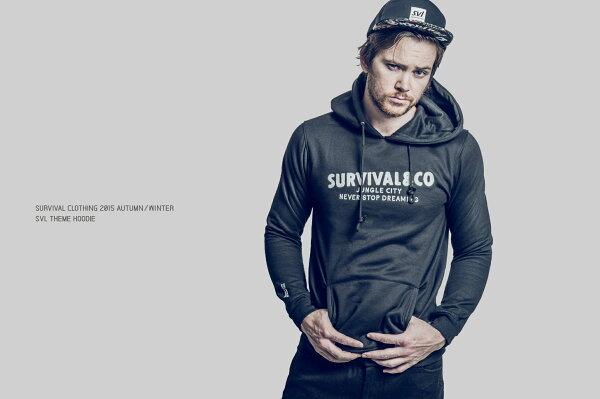 """SURVIVAL 15 A/W """"SVL Theme Hoodie"""" - 標語帽T 黑/ 灰/ 紅"""