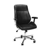 Deals on OFM Core Collection Office Mid Back Leather Task Chair
