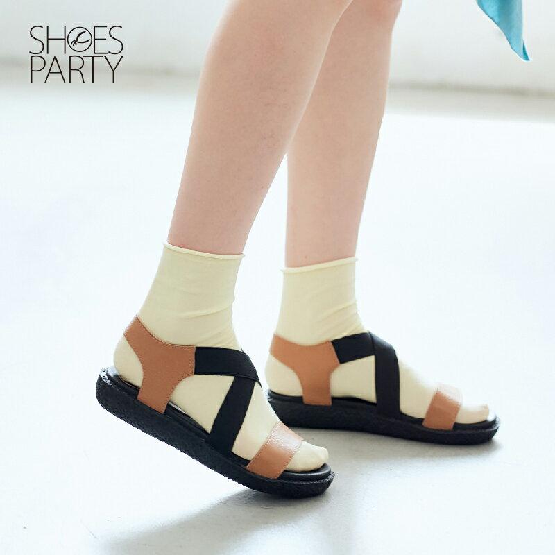 【S2-17322L】鬆緊帶X牛皮軟Q涼鞋_Shoes Party 3