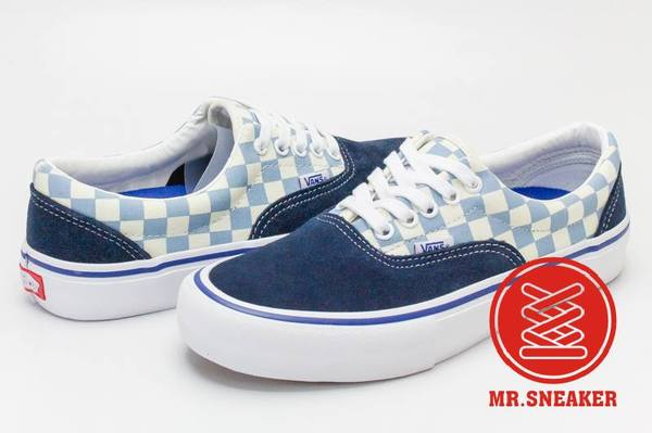 ☆Mr.Sneaker☆VANSEraPRO滑板棋盤格粉藍海軍藍男款