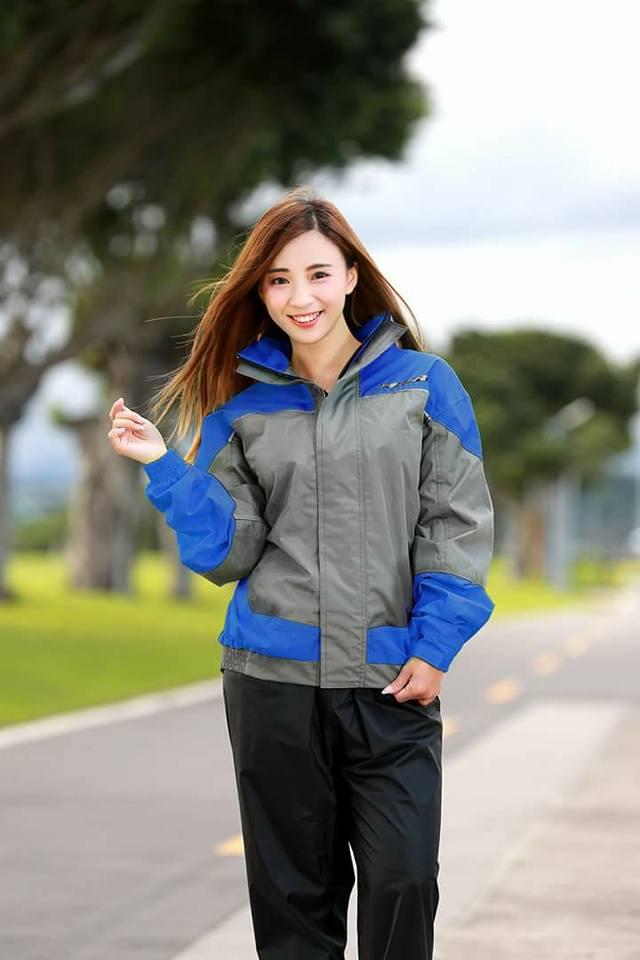 [小齊安全帽] M2R M11 灰藍 兩件式 雨衣 風衣 套裝 合身舒適 潮流亮眼 創新剪裁 雙層立領