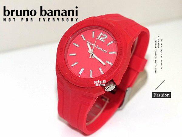 【完全計時】手錶館│德國時尚原裝bruno banani 矽膠錶帶 火焰紅 飾品 BR21084大錶徑 運動方型