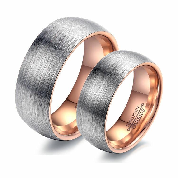 最新款經典時尚精美特色霧面造型情侶款鎢鋼戒指
