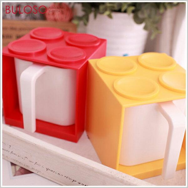 《台中不囉唆》【A253901】(不挑色) 6色積木造型套杯D611 杯子+收納盒 飲料杯 創意水杯