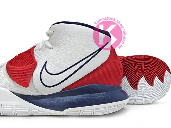 2020 Kyrie Irving 最新代言鞋款 NIKE KYRIE 6 VI EP TEM USA 白深藍紅 美國隊 奧運 前掌 ZOOM TURBO AIR 氣墊 (BQ4631-102) 0820 3