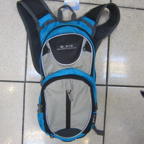 ~雪黛屋~EYE 加大型反光腳踏車後背包 可加大容量設計 隱藏式固定安全帽放置網袋 EYE305淺藍