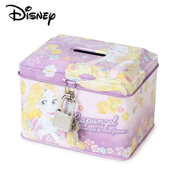 【日本正版】長髮公主鐵盒存錢筒小費盒收納盒附鑰匙可上鎖樂佩魔髮奇緣迪士尼-063246