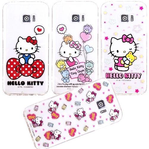 Hello Kitty 正版授權 彩繪防摔空壓殼 5.5吋 S7 Edge/Samsung G935 三星 手機套/保護套/手機殼/保護殼/防撞/氣囊殼