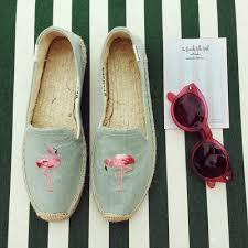 【Soludos】美國經典草編鞋-塗鴉系列草編鞋-青色火烈鳥 5