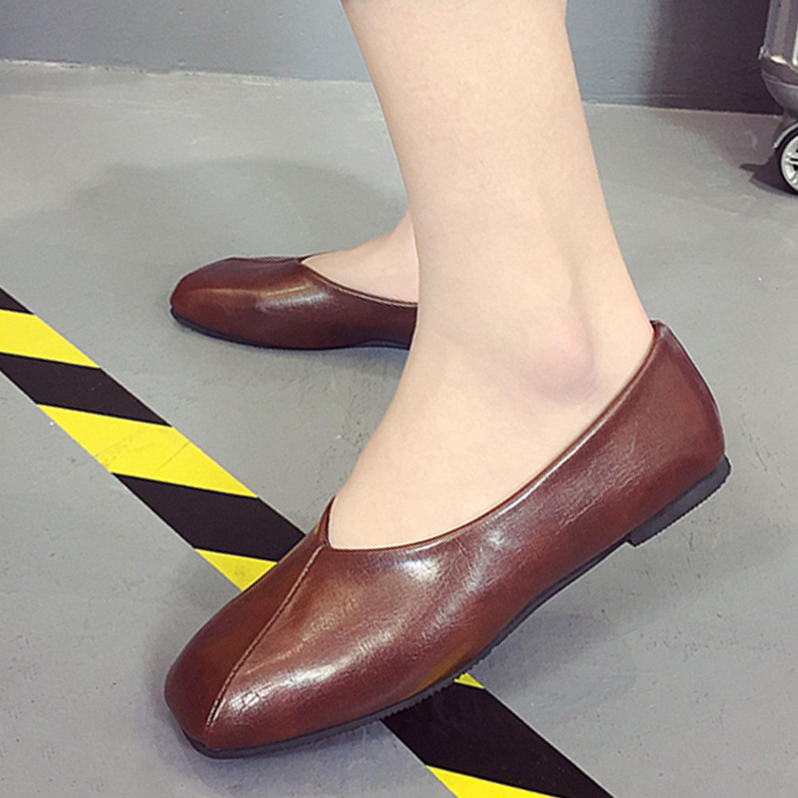 懶人鞋 奶奶鞋 韓版復古淺口方頭懶人鞋【S1681】☆雙兒網☆ 1