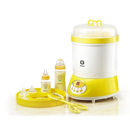 【奇買親子購物網】小獅王辛巴simba微電腦高效消毒烘乾機+加贈奶瓶夾